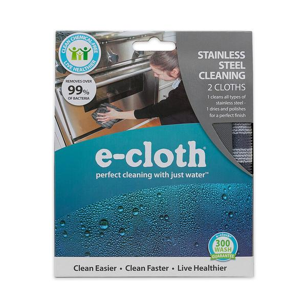 eCloth Stainless Steel Cleaning - 2 cloths