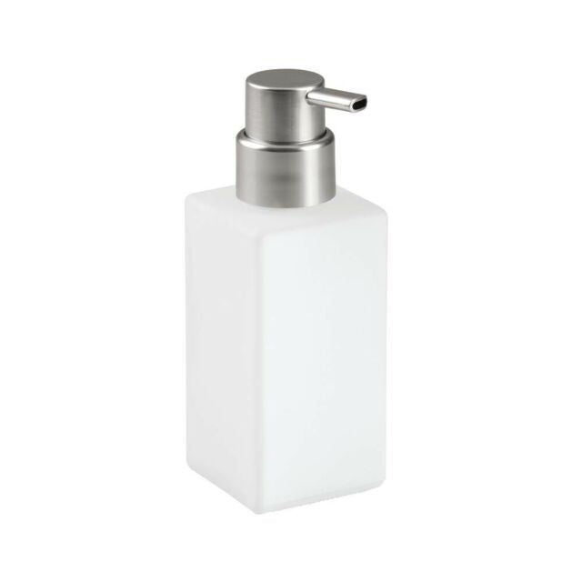 Glass Foaming Hand Soap Pump iDesign - 14 oz Frost with Brushed Chrome Pump