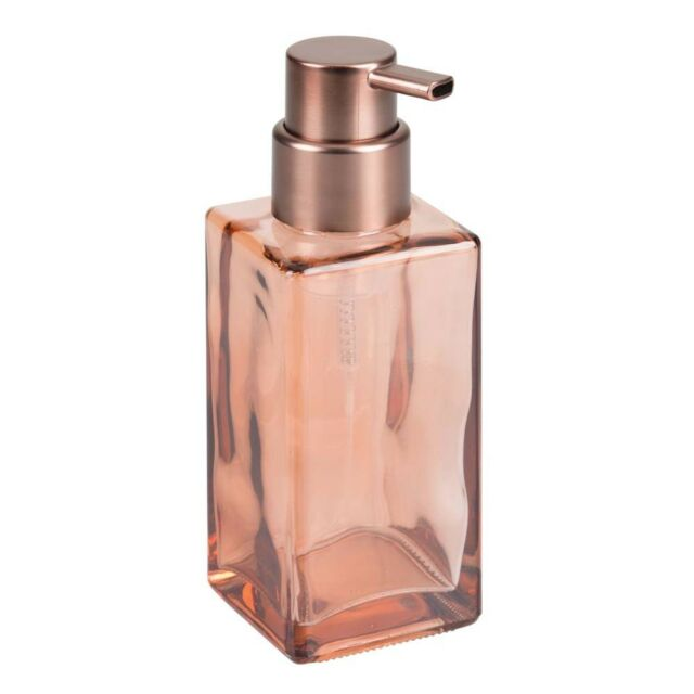 Glass Foaming Hand Soap Pump iDesign - 14 oz Sand with Bronze Pump