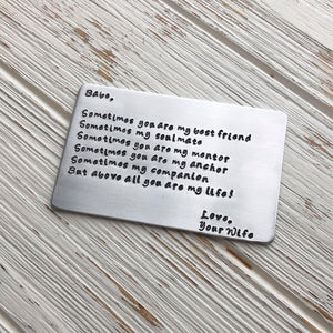Love Note Wallet Card