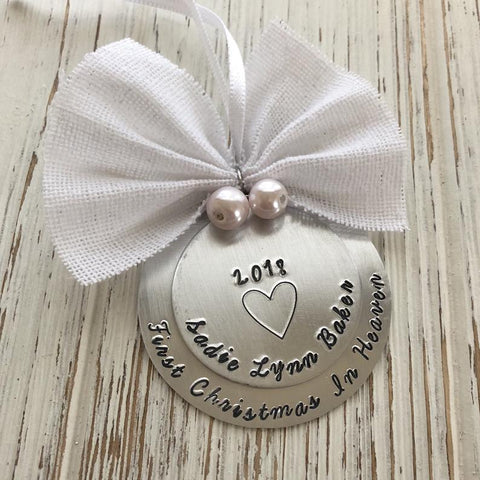 First Christmas in Heaven Ornament - SoulCysterCreations