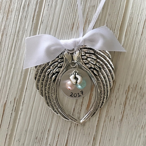 Custom Pregnancy & Infant Loss Hand Stamped Ornament - SoulCysterCreations
