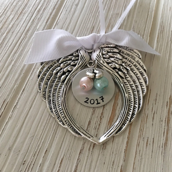 Custom Pregnancy & Infant Loss Hand Stamped Ornament
