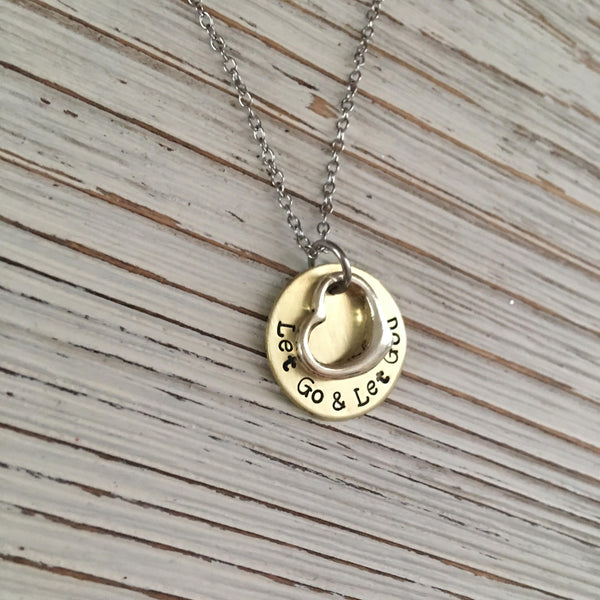 Let Go & Let God Hand Stamped Necklace
