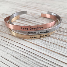 Personalized Hand Stamped Cuff