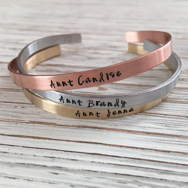 Personalized Hand Stamped Cuff - SoulCysterCreations