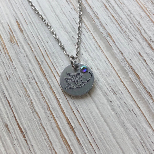 Angel Baby Memorial Necklace