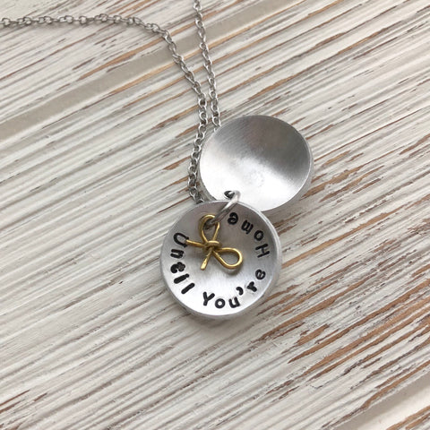 Until You Come Home Locket Necklace - SoulCysterCreations