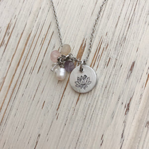 Lotus Fertility Stone Necklace