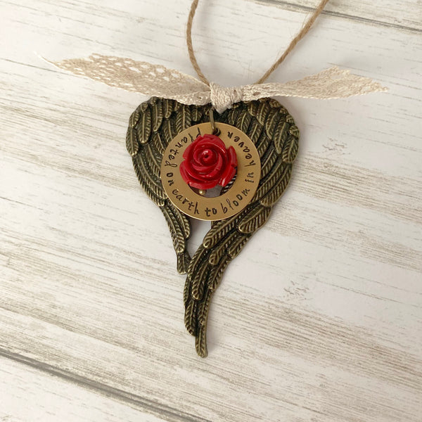 Planted on Earth to Bloom in Heaven Small Ornament - SoulCysterCreations
