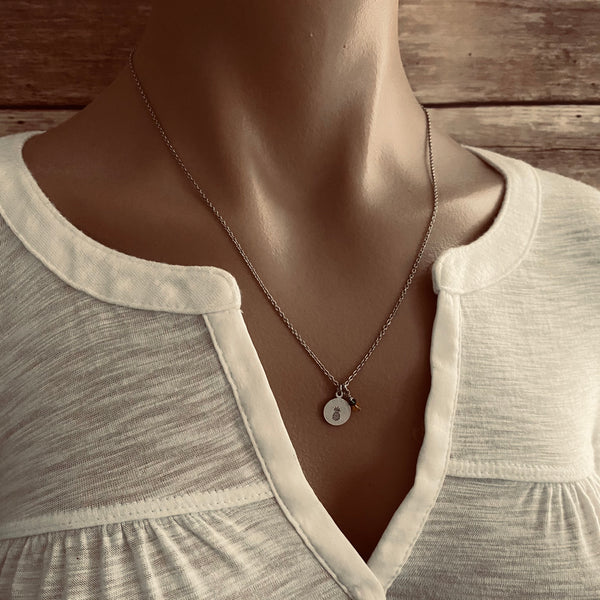 Dainty Pineapple Fertility Necklace - SoulCysterCreations