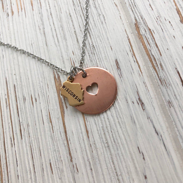 Home Is Where The Heart Is Necklace - SoulCysterCreations