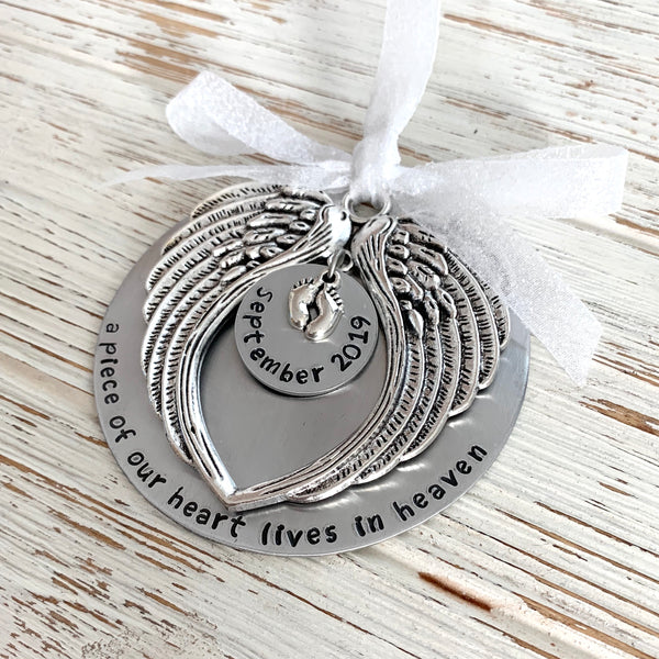 A piece of my heart lives in heaven Ornament - SoulCysterCreations