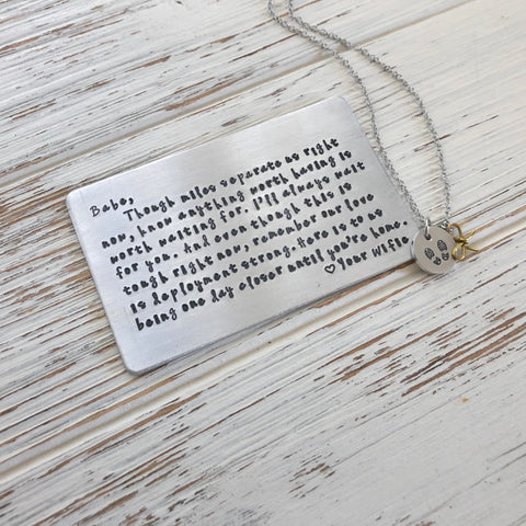 Deployment Wallet Card & Necklace - SoulCysterCreations