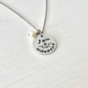 """I am a Warrior"" Necklace - SoulCysterCreations"