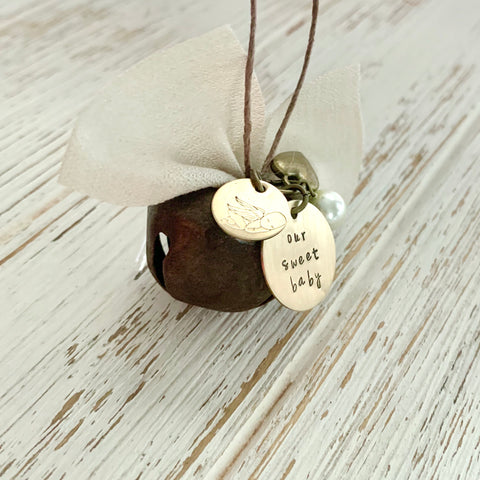 Rustic Mini Bell Memorial Ornament