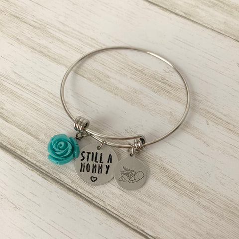 Still a Mommy Adjustable Bangle Bracelet