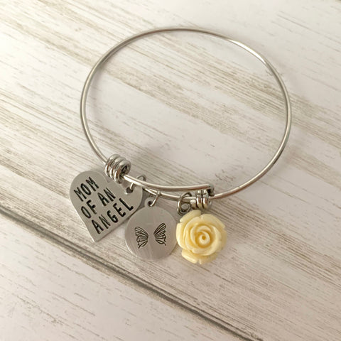Mom to an Angel Adjustable Bangle Bracelet - SoulCysterCreations