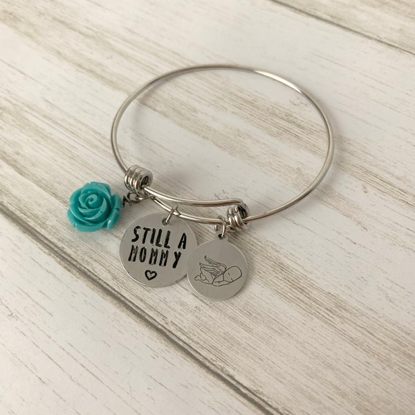 Still a Mommy Adjustable Bangle Bracelet - SoulCysterCreations