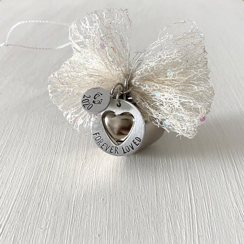Silver Bell Memorial Ornament - SoulCysterCreations