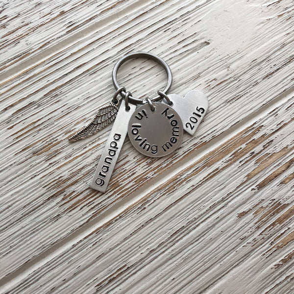 In Loving Memory Hand Stamped Keychain - SoulCysterCreations