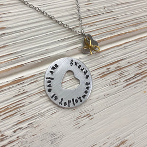 Our Love Is Deployment Strong Necklace