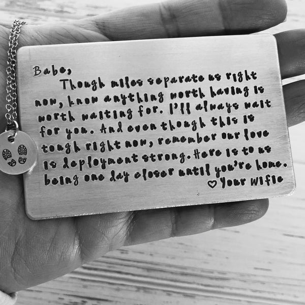 Personalized Deployment Wallet Card - SoulCysterCreations