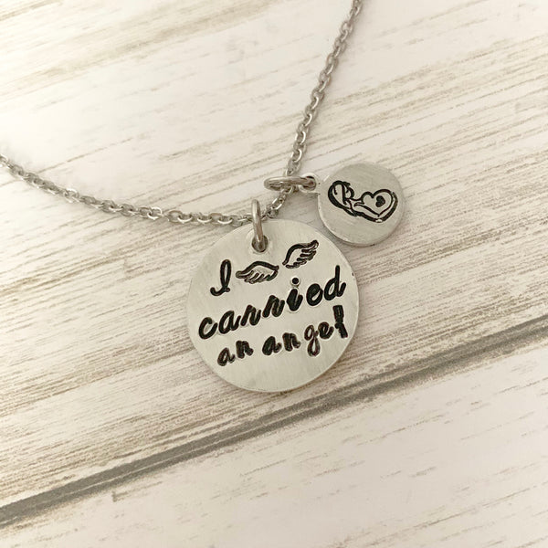 I Carried an Angel Necklace - SoulCysterCreations