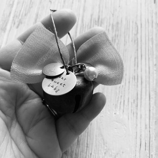 Rustic Mini Bell Memorial Ornament - SoulCysterCreations