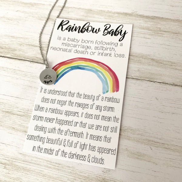 Mama of a Rainbow Baby Necklace - SoulCysterCreations