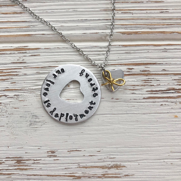 Our Love Is Deployment Strong Necklace - SoulCysterCreations