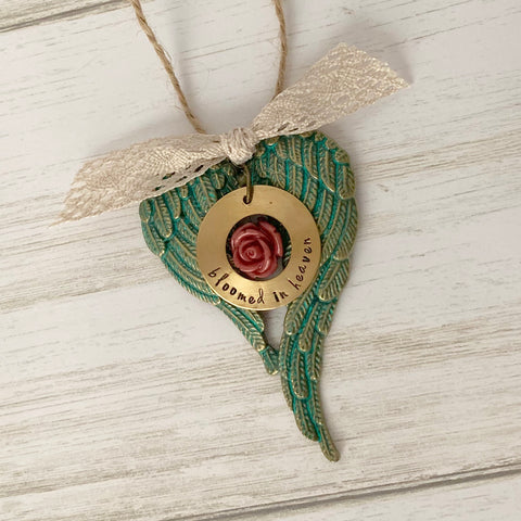 Bloomed in Heaven Small Ornament - SoulCysterCreations