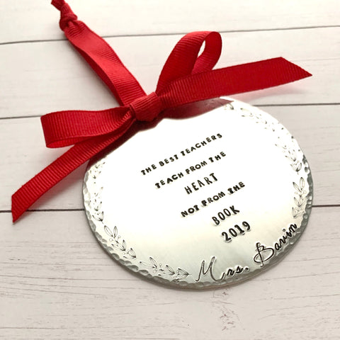 The Best Teachers Teach from the Heart Ornament - SoulCysterCreations
