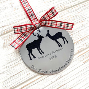Christmas Together Deer Ornament - SoulCysterCreations