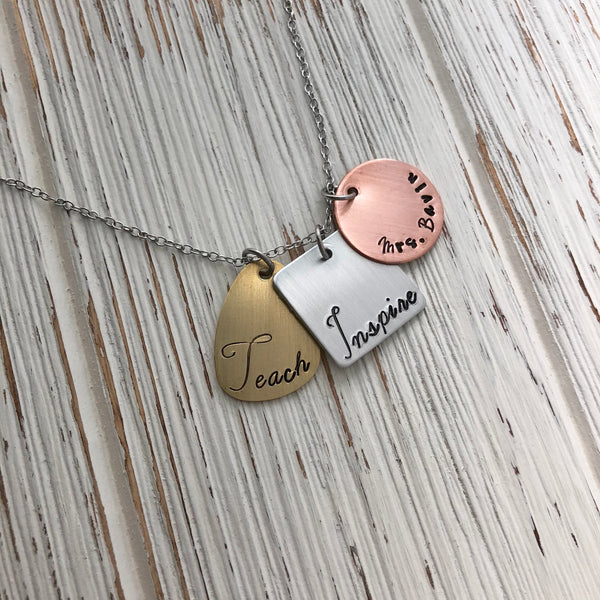 Teach and Inspire Necklace - SoulCysterCreations