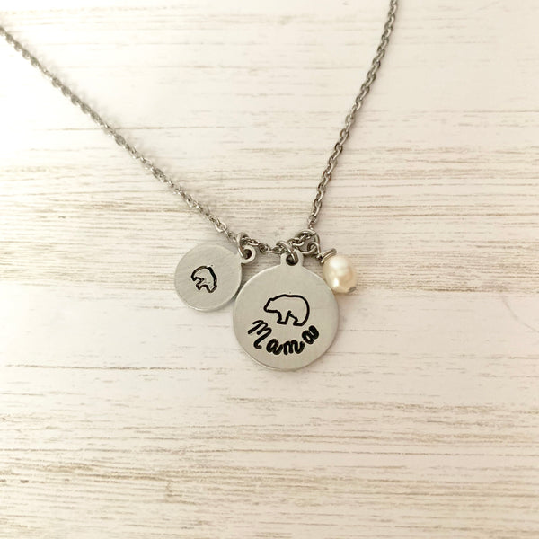 Mama Bear Necklace - SoulCysterCreations