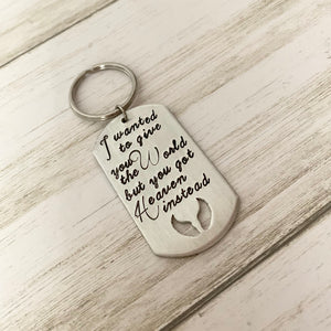 I Wanted to Give You the World but You Got Heaven Instead Keychain - SoulCysterCreations