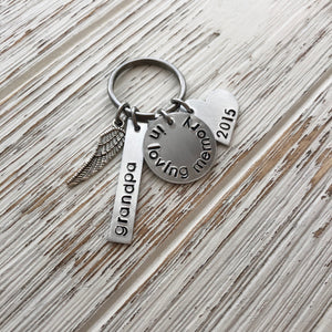 In Loving Memory Hand Stamped Keychain