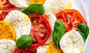 Caprese Salad with Sunflower Oil