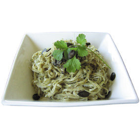 Coriander, Pumpkin Seed Pesto with Rice Pasta