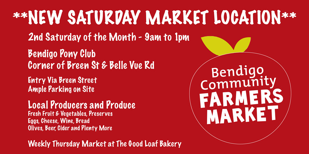 Bendigo Farmers Market new location