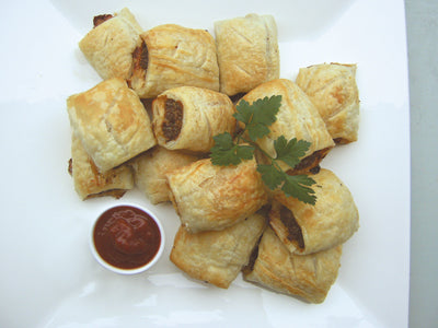 Seed or nut flour sausage rolls