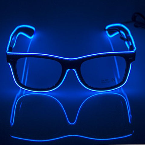 Glow Eye Glasses With Voice Controlled Lights - rave owls