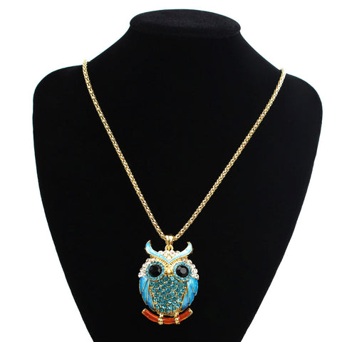 Crystal Owl Necklace Pendant - rave owls