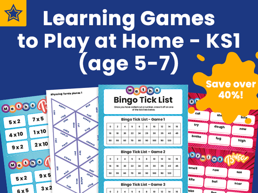 Learning Games to Play at Home - KS1 (age 5-7)