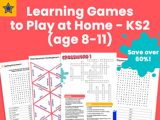 Learning Games to Play at Home - KS2 (age 8-11)