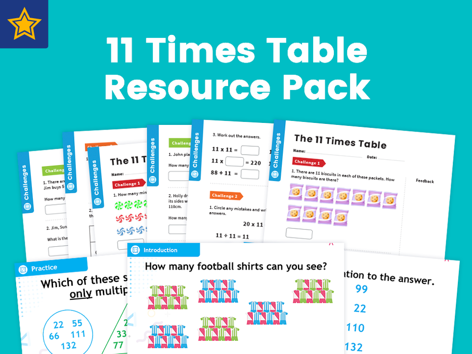 11 Time Table Resource Pack: Teaching, Practising And Investigating – PowerPoint And Activity Worksheets