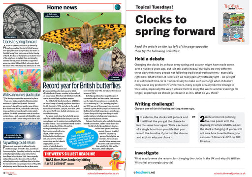 Topical Tuesdays from The Week Junior – Why do we put the clocks forward?