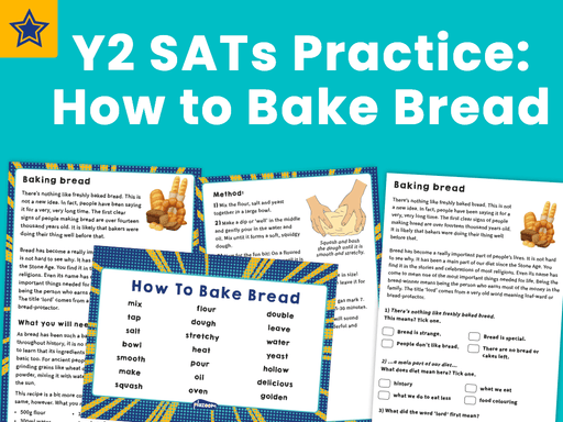 Y2 SATs Practice: How to Bake Bread