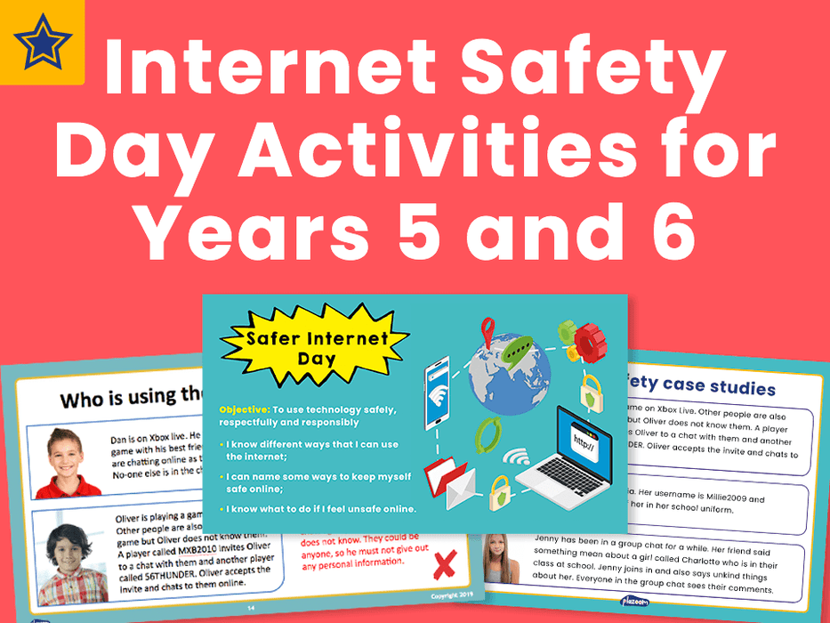 Internet Safety Day Activities for Years 5 and 6